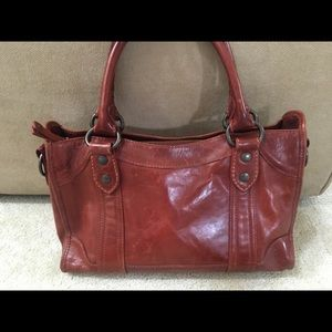 Frye - Melissa Satchel - Red Leather